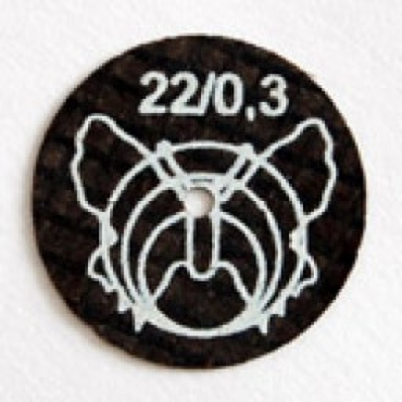 Диаметр 22мм, толщина 0,3мм. для сплавов металла