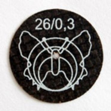 Диаметр 26мм, толщина 0,3мм. для сплавов металла
