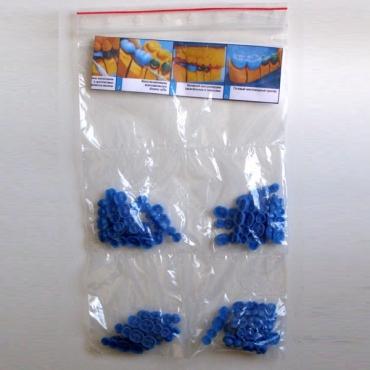 Инзомы восковые, жевательные поверхности 160 ед. (синие, фиолетовые)